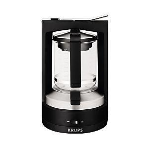 KRUKM468950 KRUPS KM4689 Moka Brewer Filter Coffee Maker, 10-Cup, Black