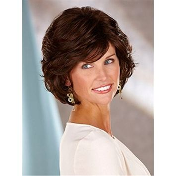 Menoqi Women Wigs Short Curly Wigs Full wigs Synthetic Heat Resistant Daily Wear Wig with Wig Cap WIG157