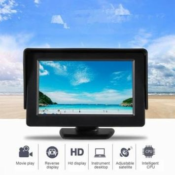 4.3 Inch TFT LCD Monitor Car Rearview Full Color Display 2-channels Video Inputs Visual Reversing for Car VCD/DVD/GPS/Camera