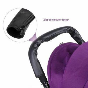 Black PU Leather Baby Stroller Bar Handlebar Armrest Protective Cover Case Baby Stroller Bar Cover Stroller Armrest Cover
