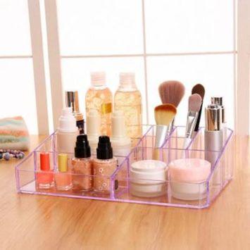 One Layer Makeup Organizer Acrylic Storage Box Cosmetic Organizer Holder