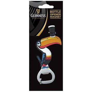 Guinness Toucan PVC Bottle Opener Magnet
