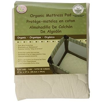 Snoozy Cotton Waterproof PlayYard Mattress Pad Featuring Saftety Stay on Corners, 27