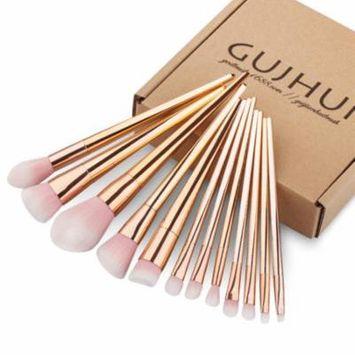 DZT1968 12PCS Make Up Foundation Eyebrow Eyeliner Blush Cosmetic Concealer Brushes