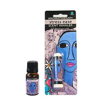 Earth Solutions Aromatherapy Kit Anti Depressant - Aromatherapy Inhaler Plus Essential Oils Blend 10ml Stress Less - Yoga Gifts