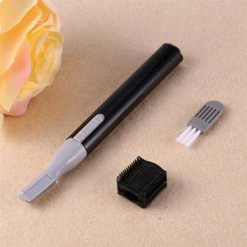 Women Facial Hair Trimmer Portable Electric Face Eyebrow Hair Body Blade Razor Shaver Remover Trimmer Beauty (Black)