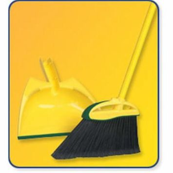 Angler Angle Broom with Dust Pan - Case of 4