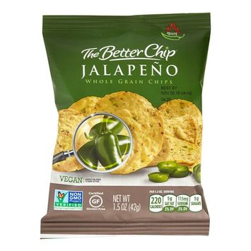 The Better Chip Tortilla Chips, Jalapeno and Sea Salt, 1.5 Oz