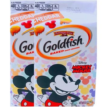 Pepperidge Farm Goldfish Baked Special Edition Cheddar Mickey Mouse Net Wt 6.6 Oz