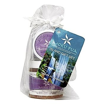 Moku Pua Natural Body Care, Island Gift Set, Plumeria,3 Items
