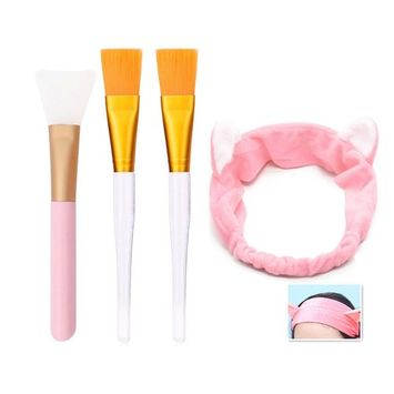 Facial Mask Brush - Professional Quality Soft Face Brushes Hair Band for Applying Facial Mask ,Face Mud Mask Mixing Brush Cosmetic Silicone Facial Applicator, Silicone Brush, Eye Mask, or DIY Need