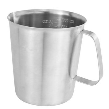 1000 ML Stainless Steel Measuring Cup Espresso Coffee Milk Steaming Frothing Pitcher for Espresso Machines, Milk Frothers and Latte Art