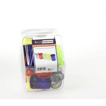 Baumgartens Translucent Barrel Pencil Sharpener Single Hole Assorted Colors (17029)