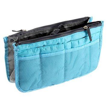 Leegoal(TM) Travel Makeup Insert Handbag Organiser Purse Large Liner Organizer Pouch Bag,Blue