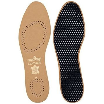 Vegetable Tanned Leather Insole Has Effective Active Charcoal Odor Protection, Tan, Size M12