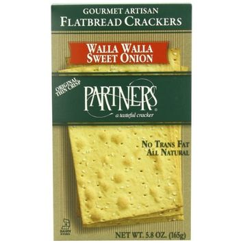 Partners Flatbread Style Crackers, Walla Walla Sweet Onion, 5.8-Ounce Boxes (Pack of 6)