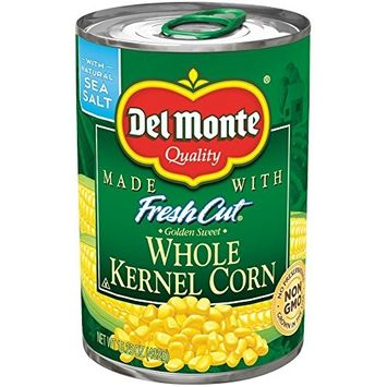 Del Monte Pull-Top Can Fresh Cut Golden Sweet Whole Kernel Corn, 15.25-Ounce (Pack of 12)