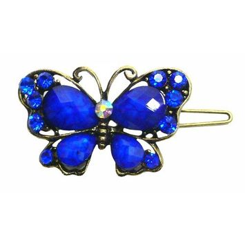 Holiday Deal Crystal Butterfly Barrette LPW86250-3blue