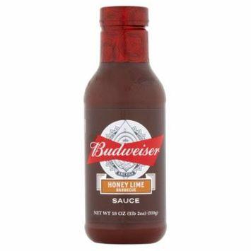 Budweiser Sauce Bbq Honey Lime,18 Oz (Pack Of 6)