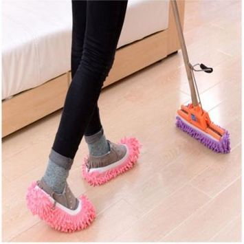 Mop Shoe Cover Slippers Multifunctional Perfect for Cleaning Dust Pet Hair