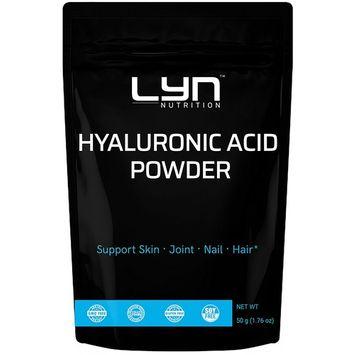 Premium Pure Natural Hyaluronic Acid Serum Powder, 50 grams, for Making Anti-Aging Serum, Internal Hydration, Joint Health Support, Vegan Friendly
