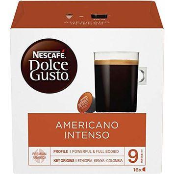 Dolce Gusto Coffee Capsules, Dark Roast, 1.85 oz., 16 per Box
