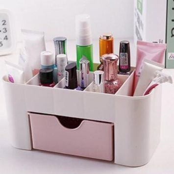 OCDAY Desktop Makeup Organizer Plastic Storage Box Cosmetic Organizer Storage Case