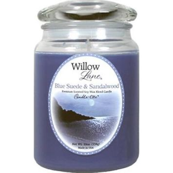 Willow Lane 19 OZ Blue Suede & Sandalwood Scented Wax Jar Candle Only One