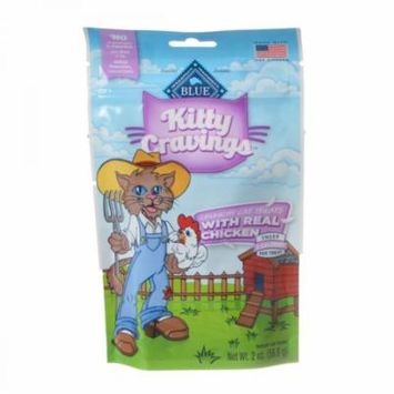 Blue Buffalo Kitty Cravings Crunchy Cat Treats - Real Chicken 2 oz - Pack of 6