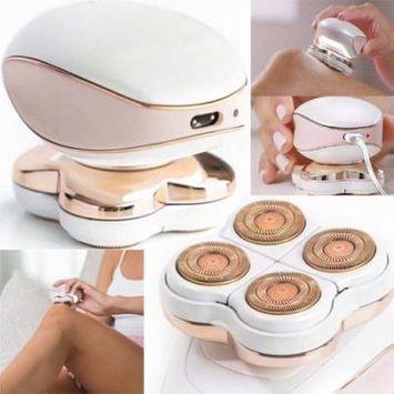 Women's Electric Epilator Portable Multi-Functional Safe Body Hair Painless Remover/Cutter for Bikini Line Leg Armpit