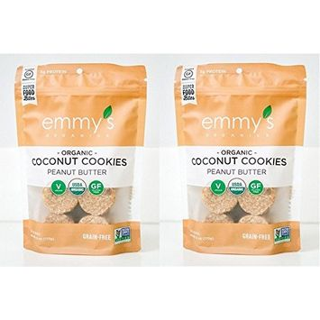 Emmy's Organics Peanut Butter Coconut Cookies (6 Oz. (Pack of 2))