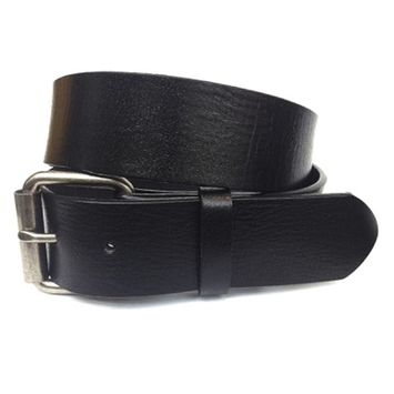 Men's Simple Yet Stylish Genuine Leather Belt Strap in Black, Size 32