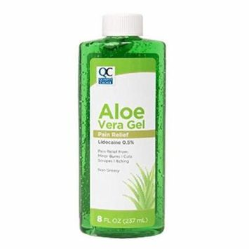 Quality Choice Aloe Vera After Sun Pain Relief Gel 8oz Each
