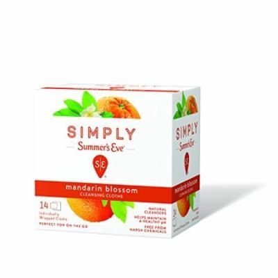 Simply Summers Eve Cleansing Cloth Mandarin Blossom 14 Count Each