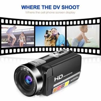 Super Cost-effective Video Camera Camcorder 5.0M HD 1080P 24.0MP 3.0 inch LCD 270 Degrees Rotatable Screen 16X Digital Zoom Digital Camera for Kids/adults(Black)