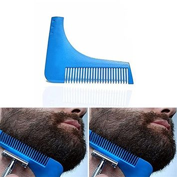 Men's Premium Grooming Guide Tool - Style Your Facial Hair with Perfect Symmetry, Ideal for Shaving your Beard, Goatee, Jaw Line, Mustache and Sideburns, Lightweight Beard Shaping Tool Made for You