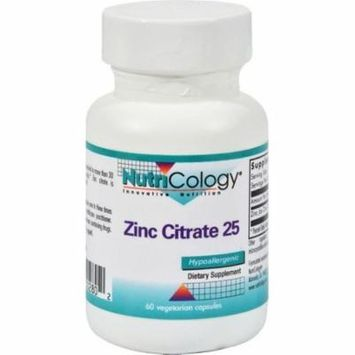 Nutricology Zinc Citrate25 - 25 - 60 Capsules