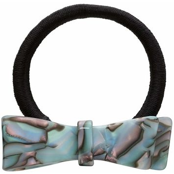 France Luxe Ribbon Bow Ponytail Holder - South Sea