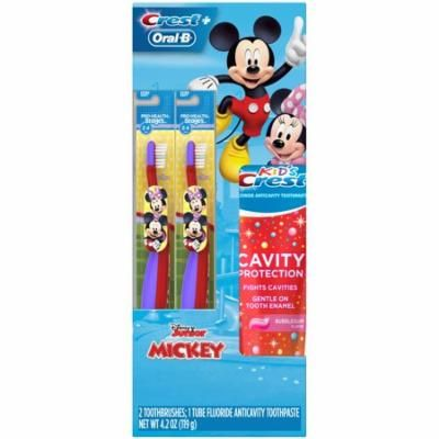 Crest & Oral-B Kids Sparkle Fun Holiday Gift Pack with toothbrushes and toothpaste featuring Disney's Mickey Mouse & Minnie Mouse
