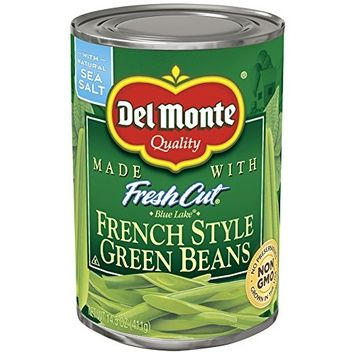 Del Monte Canned Blue Lake French Style Green Beans, 14.5-Ounce (Pack of 12)