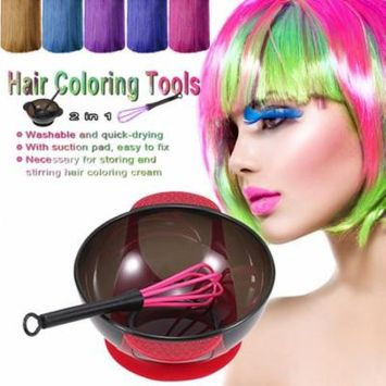 2 in 1 Hair Coloring Bowl Hair Whisk Dye Cream Mixer Stirrer for Barber Hair Dyeing Kit DIY Hairdressing Tools