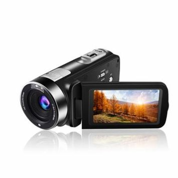 Hot Video Camera Camcorder 5.0M HD 1080P 24.0MP 3.0 inch LCD 270 Degrees Rotatable Screen 16X Digital Zoom Camera Recorder(301STR,Black)