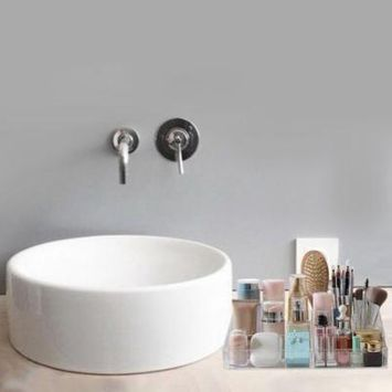 One Layer Makeup Organizer Acrylic Storage Box Cosmetic Organizer Holder Holiday Gifts, transparent,