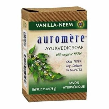 Ayurvedic Bar Soap with Organic Neem Vanilla-Neem - 2.75 oz. by Auromere (pack of 6)