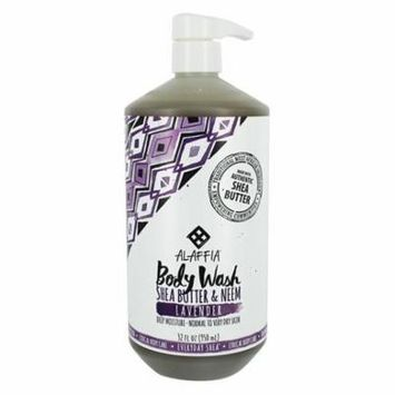 Deep Moisture Body Wash with Shea Butter & Neem Normal to Very Dry Skin Lavender - 32 fl. oz. by Alaffia (pack of 4)