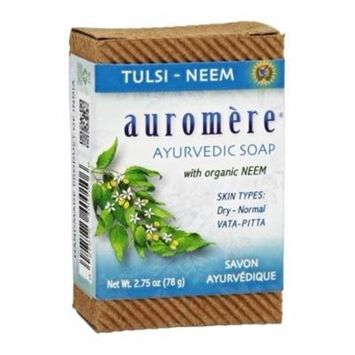 Ayurvedic Bar Soap with Organic Neem Tulsi-Neem - 2.75 oz. by Auromere (pack of 12)