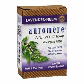 Ayurvedic Bar Soap with Organic Neem Lavender-Neem - 2.75 oz. by Auromere (pack of 4)