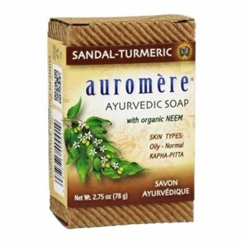 Ayurvedic Bar Soap with Organic Neem Sandal-Turmeric - 2.75 oz. by Auromere (pack of 4)