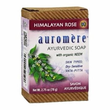 Ayurvedic Bar Soap with Organic Neem Himalayan Rose - 2.75 oz. by Auromere (pack of 4)