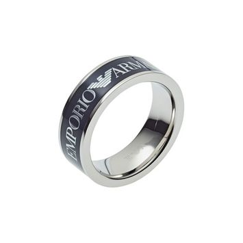 Emporio Men's Blue Stainless Steel Ring